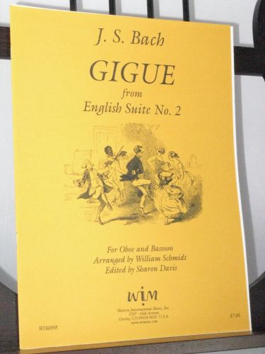 Bach J S - Gigue from English Suite No 2 arr Schmidt W