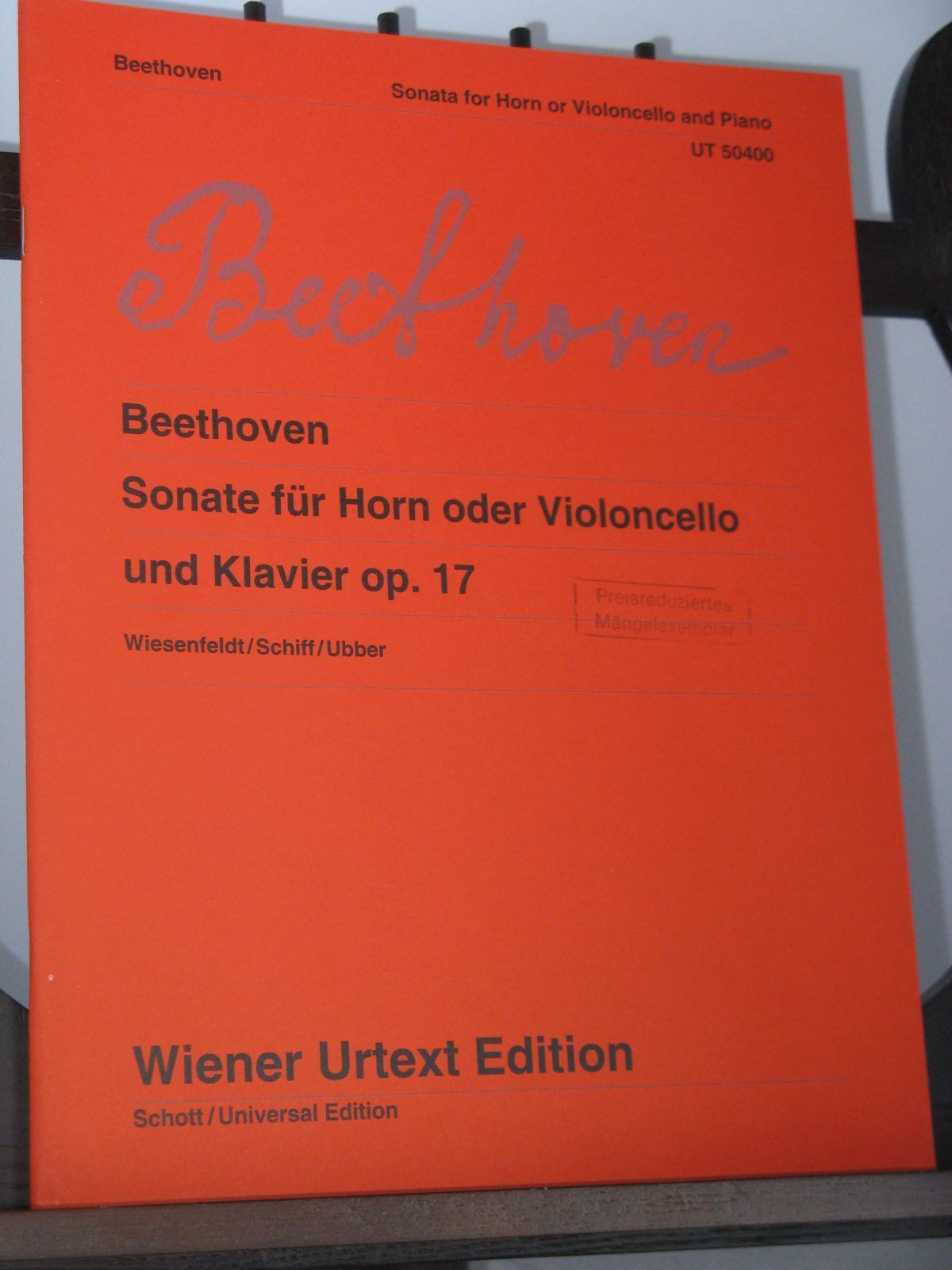 Beethoven L van - Sonata Op 17 for Horn (or Cello) & Piano